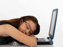Secretary sleeping Stock Image