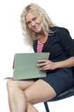 Secretary smiling Royalty Free Stock Photography