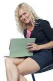 Secretary smiling Royalty Free Stock Photography