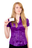 She Secretary specify your text. Isolated on white background royalty free stock images