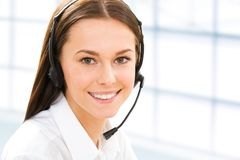 Secretary/telephone operator Royalty Free Stock Photo