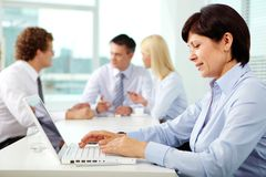 Secretary typing Stock Image