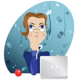 Secretary,vector Stock Image