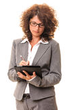 Secretary woman notes tablet pc Stock Image
