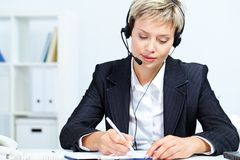 Secretary at work Royalty Free Stock Image
