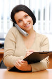 Secretary at work stock photography