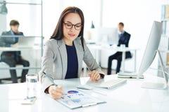 Secretary at work royalty free stock photos