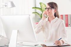 Secretary at work Royalty Free Stock Image