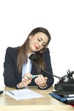 Secretary at work Royalty Free Stock Photo