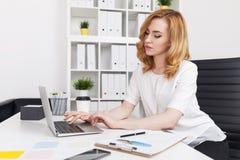Secretary working stock photography