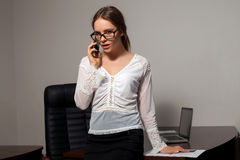 Secretary works in the office Royalty Free Stock Images