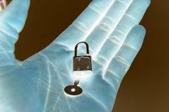 Secrete la caja fuerte (no diga cualquier persona.) Imagen de archivo
