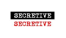 Secretive rubber stamp badge with typewriter set text logo desig Royalty Free Stock Image