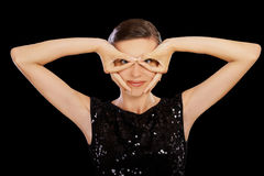 Secretive woman Stock Photography