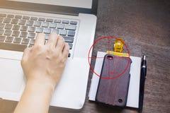 Secretly video streaming moblie phone Stock Photos