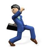 Secretly walking character. Stock Photos