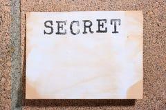 Secreto imagen de archivo libre de regalías