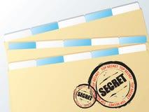 Secreto de la carpeta del asunto Foto de archivo libre de regalías