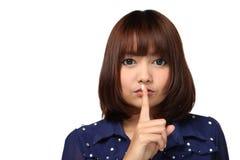 Secreto de Shh ..... Fotografía de archivo libre de regalías