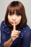 Secreto de Shh ..... Foto de archivo libre de regalías