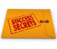 Secretos del éxito que ganan el sobre clasificado información Imagen de archivo libre de regalías