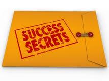 Secretos del éxito que ganan el sobre clasificado información Fotografía de archivo
