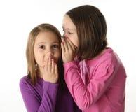 Secretos entre las hermanas Foto de archivo libre de regalías