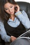 Secretária asiática Mulher Imagem de Stock Royalty Free