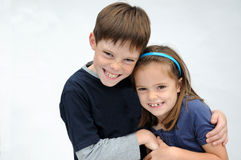 Secrets. Siblings have joined a secret stock images