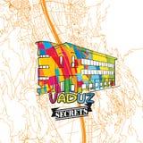 Secrets Art Map de voyage de Vaduz Photographie stock libre de droits