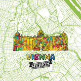 Secrets Art Map de voyage de Vienne Photos libres de droits