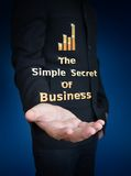 Secrets of business word Royalty Free Stock Photography