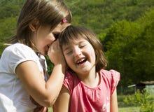 Secrets of children Royalty Free Stock Photography