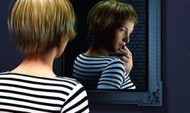 Secrets dans un miroir image libre de droits