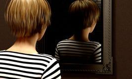 Secrets dans un miroir image stock