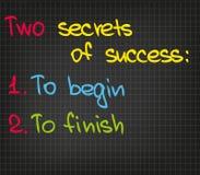 2 secrets de succès Images libres de droits