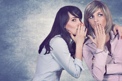 Secrets between friends Royalty Free Stock Image