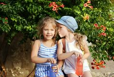 Secrets of girls royalty free stock images