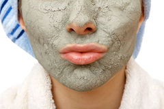 Secrets of skin firming facial mask. Skin firming facial mask for the beauty and healthy skin Stock Image