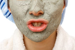 Secrets of skin firming facial mask. Skin firming facial mask for the beauty and healthy skin Royalty Free Stock Photo