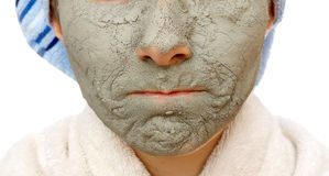 Secrets of skin firming facial mask Royalty Free Stock Photos