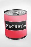 Secrets word Royalty Free Stock Photo