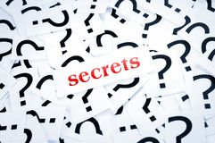 Secrets word Stock Images
