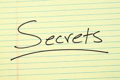 Secrets On A Yellow Legal Pad Royalty Free Stock Images