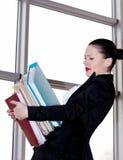 Secrétaire dans le bureau Photo libre de droits