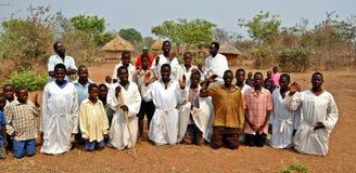 Secta al aire libre Zimbabwe de la iglesia de Mapostori imagen de archivo libre de regalías