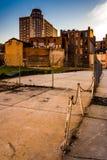 Secteur abandonné et vieux bâtiments à Baltimore, le Maryland Photographie stock