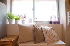 Secteur confortable de sofa dans le salon photos libres de droits