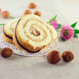 Secteur décoré des noix et des trèfles Photographie stock