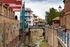 Secteur d'Abanotubani dans la vieille ville de Tbilisi georgia Photos stock